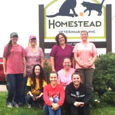 Homestead Veterinary Clinic Team at the new clinic in Baldwin, Wisconsin near River Falls